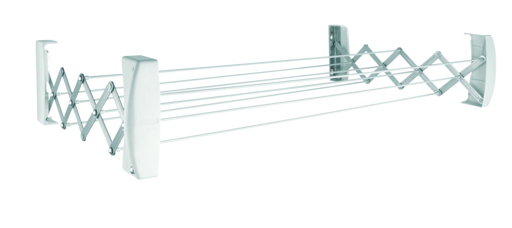 Leifheit сушилка для белья teleclip 100 настенная раздвижная.